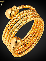 U7® Women's Multilayer Gold Plated Rings Fashion Jewelry Gift 2015 New Trendy Size 6-10 Stackable Rings