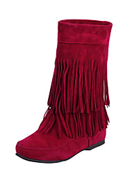 Women's Boots Fall / Winter Platform / Riding Boots / Fashion Boots / Comfort / Combat Boots /  FlatsPatent Leather /
