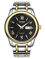GUANQIN Vintage Business Steel Strap Waterproof Watch Automatic Watch Dual Calendar Wrist Watch