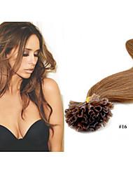 "18""-28"" 100g/lot 1g/strand Peruvian Virgin Hair Nail Tip Hair Extension Straight Pre-Bonded Hair Extensions"