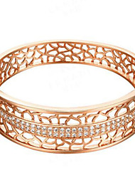 Gold Plated Bracelet With Zircon Hollow High-end