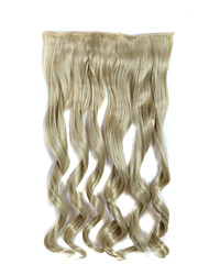 24 Inch Long Curly 5 Clips In Hair Extensions Heat Resistant Synthetic