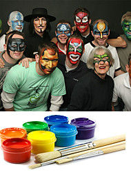 Face Paints Magic Pregnant Halloween Body painting Face Deco with Tool for Party(10 Colors a set with Tools)