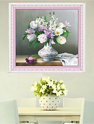 DIY-Kit Diamantkreuzstich, Blumen 70 * 70