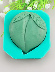 Peach Shaped Soap Molds Mooncake Mould Fondant Cake Chocolate Silicone Mold, Decoration Tools Bakeware