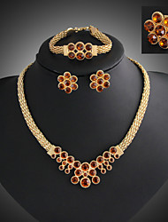 Women Vintage / Party / Casual Alloy / Gemstone & Crystal / Cubic Zirconia Necklace / Earrings / Bracelet / Ring Sets