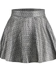 Women's Sexy Print Stretchy Medium Mini Skirts (Polyester)
