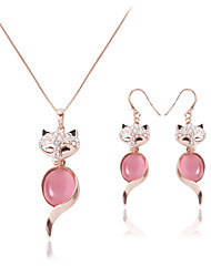 Jewelry 1 Necklace / 1 Pair of Earrings Crystal Wedding / Party / Daily / Casual 1set Women White Wedding Gifts