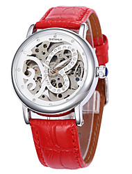 Women's  Luxury Hollow  Full-Automatic Round Dial Leather Band Machine  Analog Wrist Watch(Assorted Color) Cool Watches Unique Watches