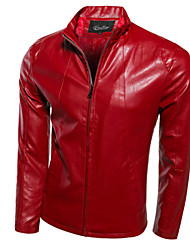 Men's  Imitation  PU Leather Moto  Jacket