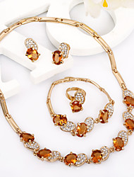 Western Rain Gold Crystal Fashionable Elegant Necklace Suits