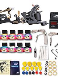 Beginner Tattoo Starter Kits 2 Machines 10 Ink Sets Top U.S.A Tattoo Ink