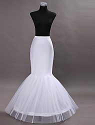 Slips Mermaid and Trumpet Gown Slip Tea-Length 2 Nylon White