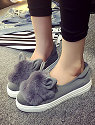 Women's Shoes Canvas Low Heel Comfort / Novelty Bunny Ears Loafers Casual