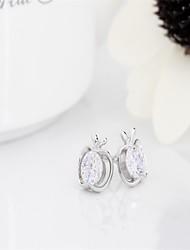 korean tv drama fashion charms 925 sterling silver 3a cz stud earrings,mercurial superfly cute apple earrings brand