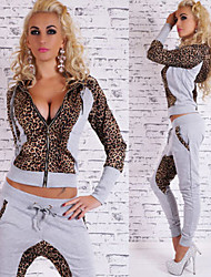 Women's Leopard  Long Sleeve Suits ONLY