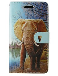 For Huawei Case / P8 / P8 Lite Wallet / Card Holder / with Stand Case Full Body Case Elephant Hard PU Leather HuaweiHuawei P8 / Huawei P8