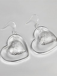 Earring Drop Earrings Jewelry Women Brass / Silver Plated 2pcs Silver