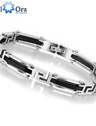 2015 High Quality Titanium steel  Bracelet For Men Thick Rock Bracelet Men