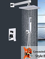 "Shengbaier® Wall Mounted Rain Shower Faucet Set 8""Square Shower Head Bathroom Mixer Taps"