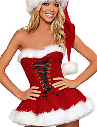 Christmas / New Year Female Santa Suits Costumes Dress / Hats