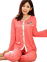 WEST BIKING® Autumn Pajamas Cotton Long-Sleeved Pajama Suit Models Girls Pajamas Home Service