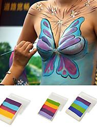 Face Paints Magic Colors Pigment Halloween Body Painting Face Deco for Party(1 Pc)(1 color + Brush)