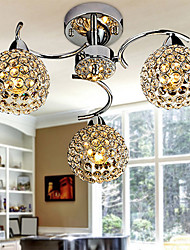 Round Ceiling Chandeliers with 3 Light