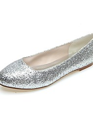 Women's Shoes Glitter Spring / Summer / Fall / Winter Round Toe Party & Evening Flat Heel Black / Silver / Gold