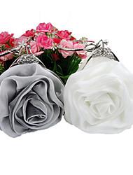 Damen Satin Veranstaltung / Fest / Hochzeit Abendtasche Weiß / Grau