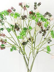 небольшой калина фрукты травы в пластиковом искусственной травы для украшения дома (набор из 2)