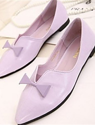 Women's Shoes   Low Heel Pointed Toe Flats Casual Black/Pink/Purple/White
