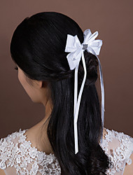 Women's/Flower Girl's Satin/Rhinestone/Tulle Headpiece - Wedding/Special Occasion Hair Combs 1 Piece