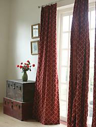 deux panneaux panneau de broderie rideaux bordeaux chambre opaques