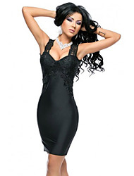 Women's Lace Splice Curve-hugging Party Dress