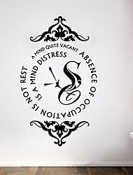stickers muraux de style mur de décalcomanies chérissent mots anglais de temps&cite muraux PVC autocollants