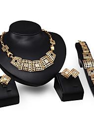 XIXI Women Latest Fashion Alloy Rhinestone Imitation Pearl Necklace/Earrings/Bracelets/Rings Sets