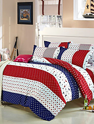 Mingjie® Stars and Moons Queen and Twin Size Sanding Bedding Sets 4pcs for Boys and Girls Bed Linen China Wholesale