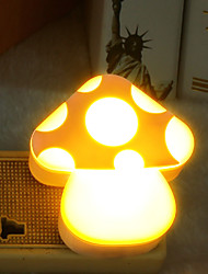 Creative Light-Operated Mushrooms ABS LED Light Night lamp AC 220V/50Hz 0.2W