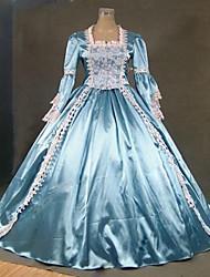 Тема платье steampunk®18th века синий и белый Мари-Антуанетта период производительность свадебное платье