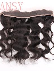 """emaranhado livre remy brasileiro do cabelo humano laço frontal 120% 13 * onda do corpo 2inch rendas suíço frontal cabelo virgem 8 """"-20"""""""