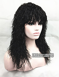 African American Style Natural fluffy Long Black Curly Hair Wig