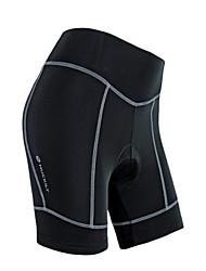 WEST BIKING® Gepolsterte Fahrradshorts Damen Atmungsaktiv / Reflexstreiffen / 3D Pad Fahhrad Shorts/Laufshorts / Gepolsterte Shorts