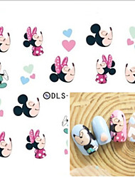 Water Transfer Printing Mice Nail Stickers