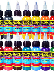 Solong Tattoo Inks 14 Colors Set 1oz 30ml/Bottle Tattoo Pigment Kit