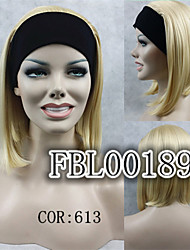 Natural Short Straight 3/4 Wig Light Blonde Headband Wigs Ombre hair Wig For Women