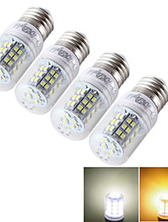 YouOKLight® 4PCS E14/E27 7W 600lm CRI>80 3000K/6000K 48*SMD2835 LED Light Corn Bulb (AC/DC9-30V/AC85-265V)