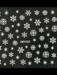 3D Christmas Snowflake Star Nail Art Stickers