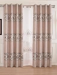 (un panel) moda para el hogar moderno ropa de poliéster grandes ramas habitación jacquard cortina de oscurecimiento
