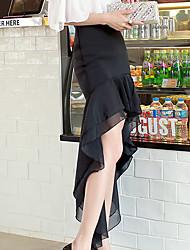 Jupes ( Polyester / Viscose ) Bodycon / Informel / Soirée Asymétrique à Maxi pour Femme